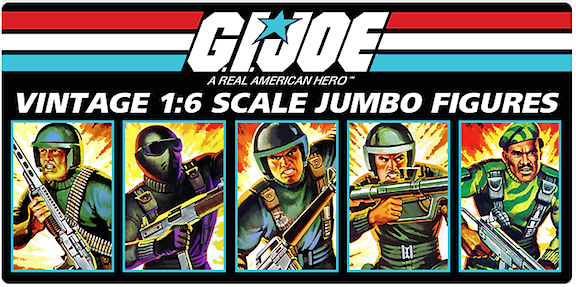 "This advertisement for Gentle Giant's new line of ""Vintage 1:6 scale jumbo figures"" promises to keep Joe at 12-inches, at least through 2015. (Graphic: Gentle Giant)"