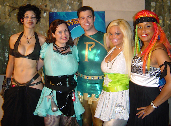 Williams poses with fellow WWTBASH contestants (from right), Aja DeCoudreaux, Melody Mooney, Trisha Paytas and