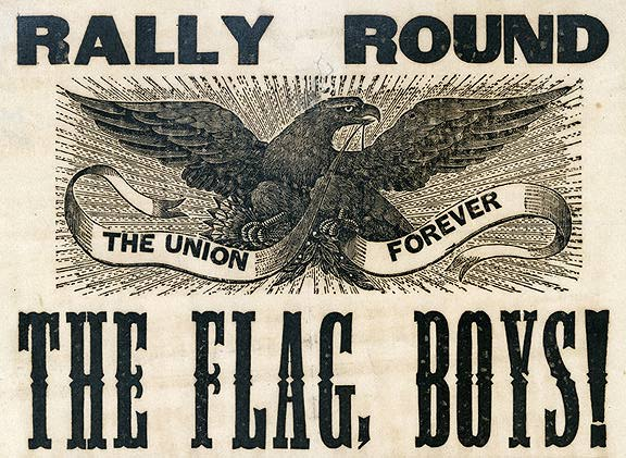 This Civil War era poster hoped to instill patriotic fervor in an attempt to keep the Union together during a time when sides were pulling apart. Increasingly disparate GIjOE fans may be facing a similar test of their own due to increased splintering of a once mighty, unified fan group. (Photo: bentley.umich)