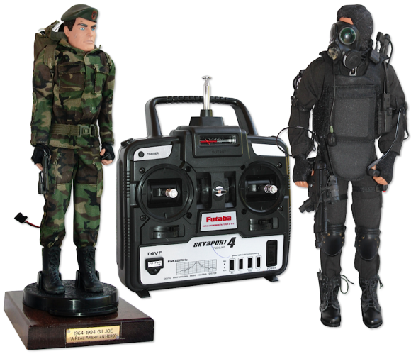 Are these the first-ever Cyborg GIjOEs? Quite possibly. So COOL! (Photo: NDSA)