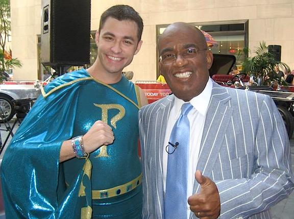 Dan Williams poses for a publicity photo with NBC's Al Roker during an appearance on the show. in 2007. (Photo: Dan Williams)