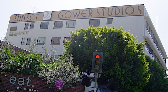 "See you on Sunset Boulevard! The Sunset Gower Studios building in Hollywood (shown above) was where Williams and others were sent for final auditions for Stan Lee's ""Who Wants to be a Superhero?"" (Photo: Dan Williams)"