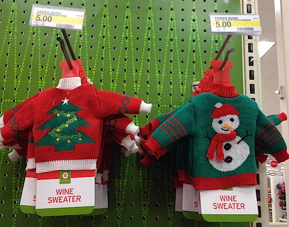 "In the latest salvo fired in 2014's ""War of the Wools,"" Target's new ""Wine Sweaters"" are also ideal for use by GIjOEs and other 12-inch action figures (the bigger the better). (Photo: Laura Ann Ostermeyer)"