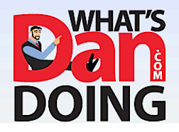 "Find out more about Dan! His website, appropriately called, ""What's Dan Doing?  is full of news, photos and information. Enjoy! (Logo: Dan Williams)"