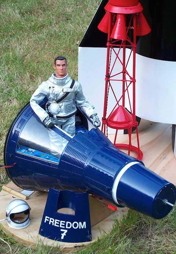"12-inch GIjOEs have been launched into the upper atmosphere many times, most famously as ""Mercury Joe"" (shown above). (Photo: Mercury Joe)"