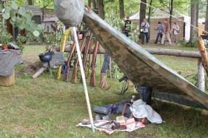 Visitors to one of the WWII reenactments examine the camp conditions and equipment used by German soldiers during WWII. (Photo: Grzegorz Boreck)