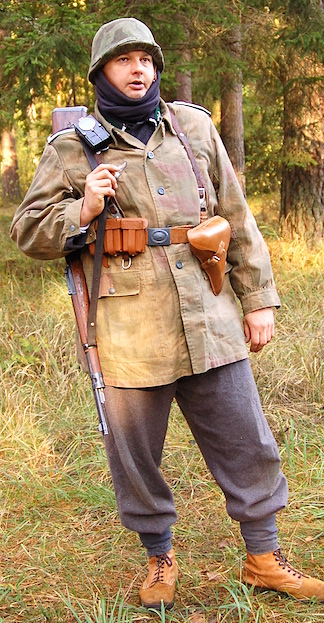 Polish action figure collector and customizer, Grz also participates in 1:1 scale WWII reenactments in Poland, often portraying enemy forces in authentic kit and gear. (Photo: