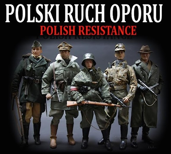 Jacek NAME's amazing custom group of WWII Polish Resistance Fighters. Outstanding! (Photo: