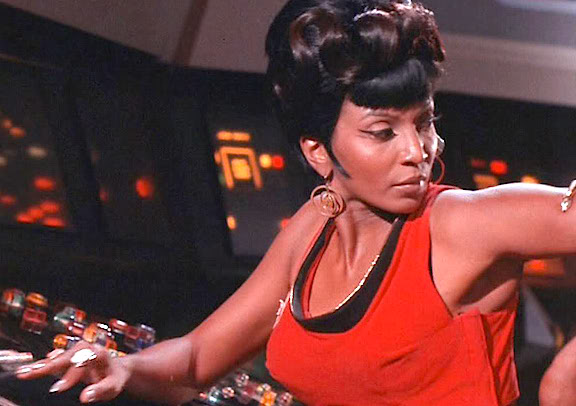 There wasn't a bad angle from which to photograph Nichelle Nichols. And every episode which featured her was instantly made more exciting and interesting for her millions of fans. (Photo: CBS/Paramount)