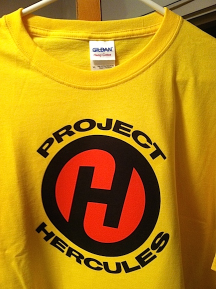 "Since last week, PoP has begun giving away free 1:1 scale ""Project: HERCULES"" t-shirts to lucky winners over on its fan page on Facebook HERE. (Photo: Mark Otnes)"
