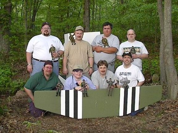 Members of the Connecticut Division of the GIjOE Collector's Club (one of the earliest and first formed) posed for this photo many years ago. The club is now inactive. (Photo: John Kozin)
