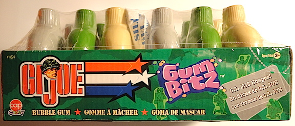 The side panel view of a 12-pack of GIjOE Gum Bitz. (Photo: Mark Otnes)