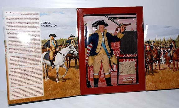 "Selman's depiction of George Washington will ring a bell with fans and collectors of GIjOE action figures who remember a previous Selman painting of America's first President graced the packaging of an outstanding George Washington ""Classic Collection"" figure. (Photo: Timewarptoys)"
