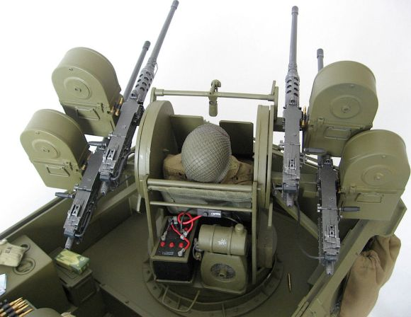 "This view of Robert's M16 reveals its amazing ""Quad"" firepower. AWESOME. (Photo:"