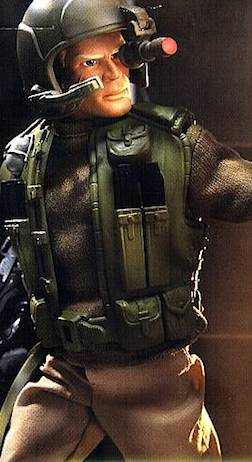 Speak up, Soldier!— Hasbro's Talking Duke GIjOE combined lip movement (controlled by pushing a button on his chest) with sound. Reviews were mixed and there were no more push-n-talk figures released. (Photo: Hasbro)