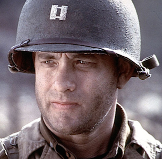 "A stickler for detail and historic accuracy, Steven Spielberg ensured the actors in his WWII epic, Saving Private Ryan, were outfitted from head to toe in the correct uniform and equipment. From a distance, it would be hard to discern the ""corked"" texture of the helmet worn by Tom Hanks as Capt. Miller (above), but this closeup reveals that even this tiny detail was not overlooked. Fan-TASTIC! (Photo: Dreamworks SKG)"