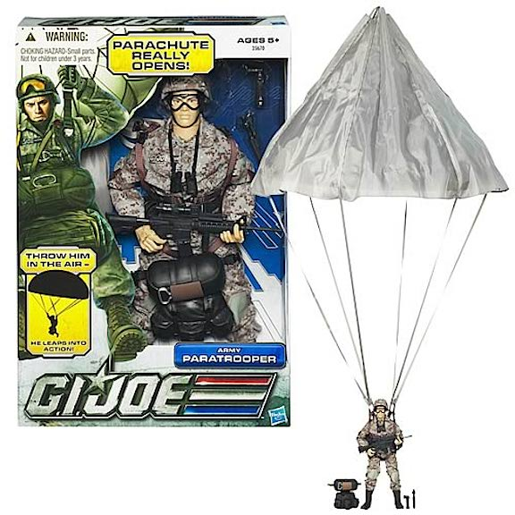 Hasbro's Last Stand For 12-Inch GIjOEs came back in 2011 with figures such as this Army Paratrooper. Many items were rehashed from previous sets and sales were lackluster at best. (Photo: ebay)