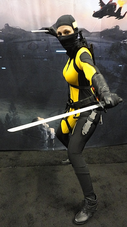 Show us what'cha GOT! Another cosplayer shows off her stuff at JoeCon 2015. For her and other fans of 3 3/4