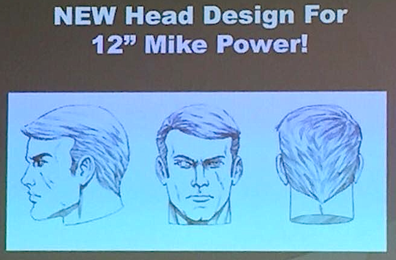 A sketch of an all-new head sculpt for the GIjOE Collector's Club upcoming recreation of the Mike Power GIjOE action figure. (Photo: Jerry Gonzalas)