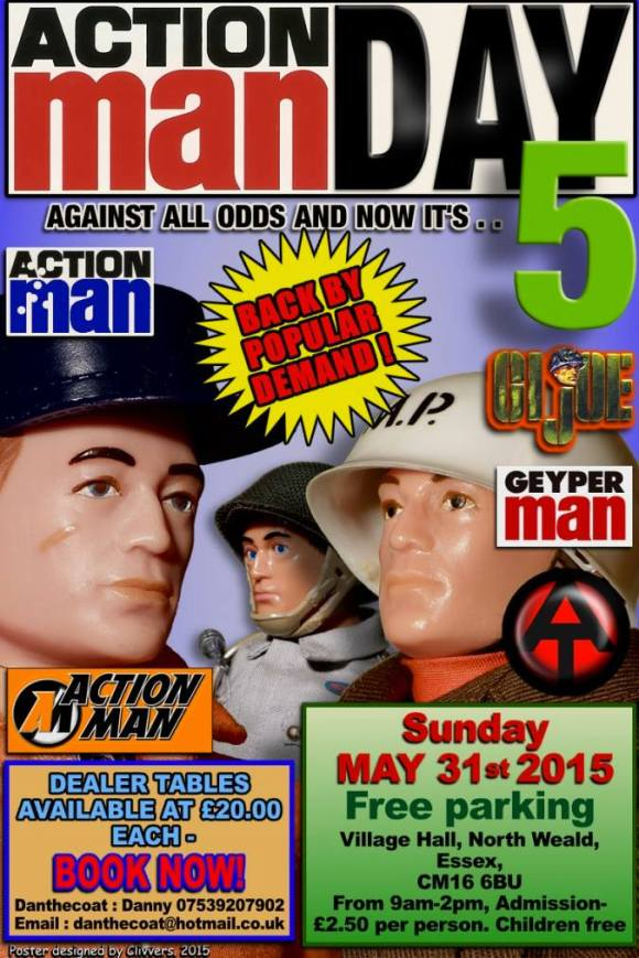 Action Man Day 5 Official Poster (Designed by Clivvers 2015)