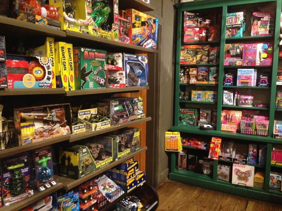 Cracker Barrel's toy shelves are nothing to sneeze at. Take a look at this recent photo. WOW! (Photo: wideopencountry) Click to enlarge.