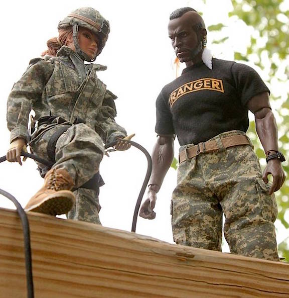 Remember what your Drill Sergeant told you and get down off of this obstacle—NOW! (Photo: Steve Benson)