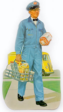 50 years ago, groceries were delivered to your door, along with EXCLUSIVE catalog items including GIjOEs. Imagine how kids would look forward to THAT! Would you like a GIjOE with your eggs and milk? Why, YES, please! (Photo: easy)