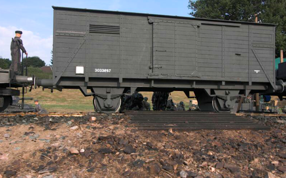 Big, Bad Boxcars— A train is more than just a locomotive, andthe KVA knows that. As a result, Shaw also added superbly crafted boxcars and other rolling stock. Are you blown away yet? (Photo: KVA) Click to enlarge.