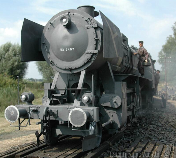 This massive, 1:6 scale locomotive, created by NAME HERE of Kampfgruppe Von Abt in the UK, likely bears a strong resemblance to the missing