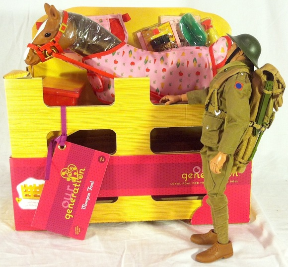 Not Bad! GIjOE walks up to examine the latest animal addition to his owner's collection. It's a
