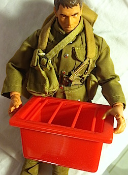 Hungry Horsey? The feed box that comes with this set is perfect for use in GIjOE's stable or barn. (Photo: Mark Otnes)