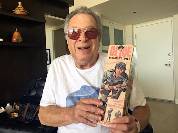 It Was His Idea— Stan Weston (82) holds up a copy of Hasbro's original 1964 GIjOE Action Soldier, a product line produced from Weston's original concept which he created and sold to the company in 1963. When the copyrights to GIjOE expire in 2020, Weston (now 82), hopes to reclaim control over his creation in a court of law. (Photo: