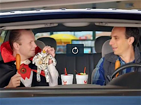 We see it here, we see it THERE. Now GIjOE fans can see Joe Zeta's old spacesuit EVERYWHERE on TV as it features prominently in the latest commercial for Sonic Drive-In's corndogs. (Screenshot: Sonic)