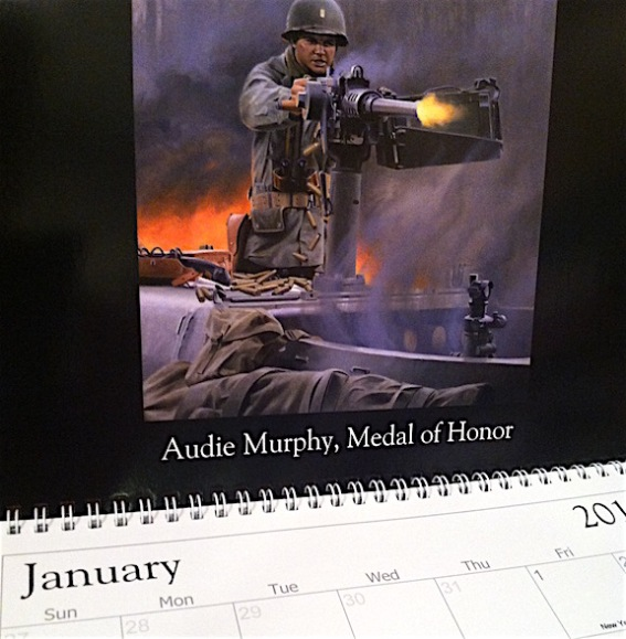 This will BLOW YOU AWAY—Can you imagine a better way to decorate the wall of your Joe Room than a new 2016 calendar from famed GIjOE artist, Larry Selman? Out-STANDING! (Photo: Mark Otnes)
