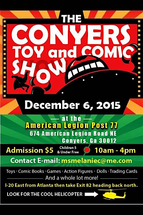 Conyers Toy and Comic Show Poster (Graphic: CTCS)