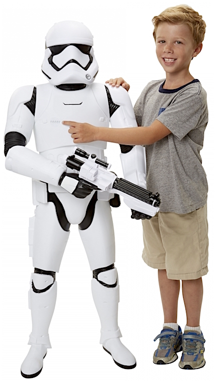 This would make a great costume! That's right kid, as we now know, if you cut this toy up, children of a certain size can fit INSIDE the parts, making an astonishing stormtrooper costume. (Photo: Jakks)