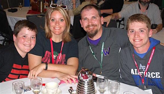 The Mark Jones Family at the last GIjOE Convention. (Photo: Mark Jones)