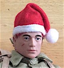 Joe looks GREAT in his new Santa hat (only $1!) (Photo: Mark Jones)