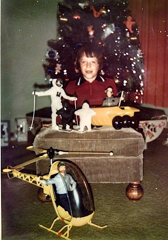 Todd Thibedeau of Oak Lawn, Illinois, on Christmas morning, 1900. Forty years later, Todd would recreate this exact image—with GIjOE. (Photo: Thibedeau Family)