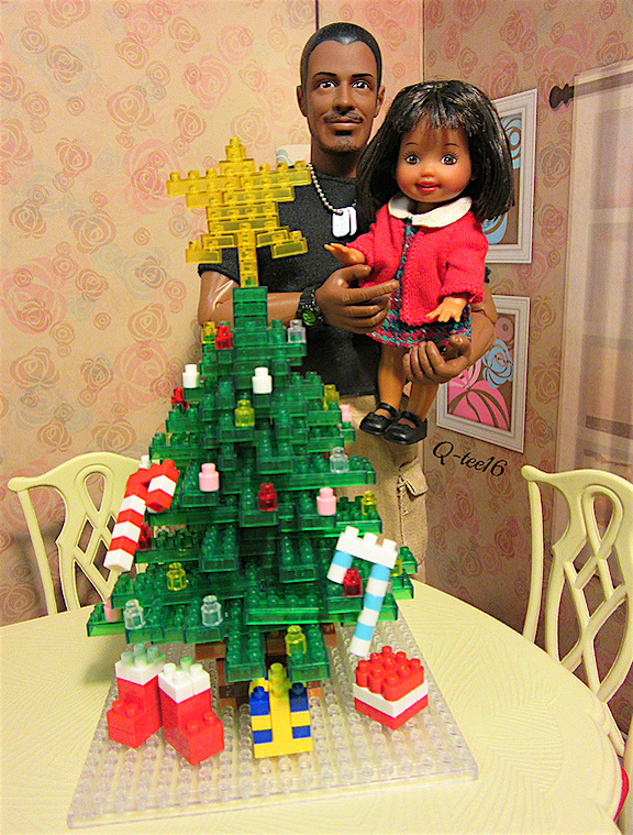 Merry Christmas! Joe and Joey are clearly thrilled with the results of their efforts. It's amazing that these Lego-style blocks can be made at such a tiny scale. Out-STANDING! (Photo: Queli Castro)