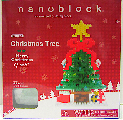"What to Look For— Admittedly, the packaging for Nanoblocks is hardly ""kid-oriented."" No splashy colors or bright packaging. Rather, you might assume this was a box of christmas lights or tinsel and pass it by! (Photo: Queli Castro)"